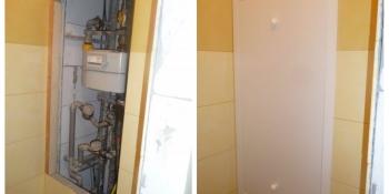 Plastový kryt do bytového jádra